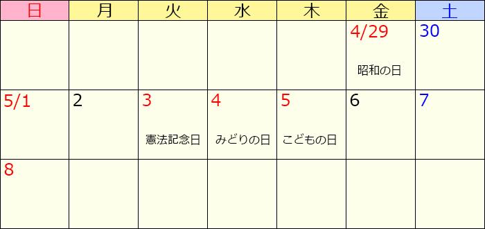 GW カレンダー 南房総 漁協 東安房