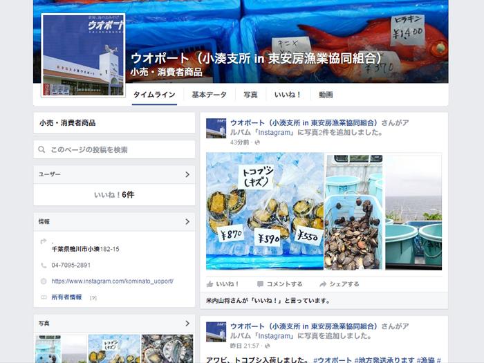 ウオポート facebook 千葉 天津小湊