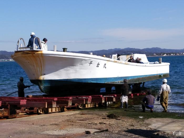 東安房漁協 定置 水揚げ 上架 千倉